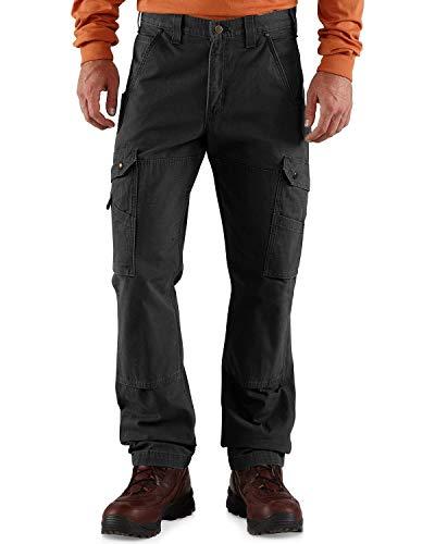 Carhartt Herren Ripstop Cargo Work Pants, Black, W30/L34