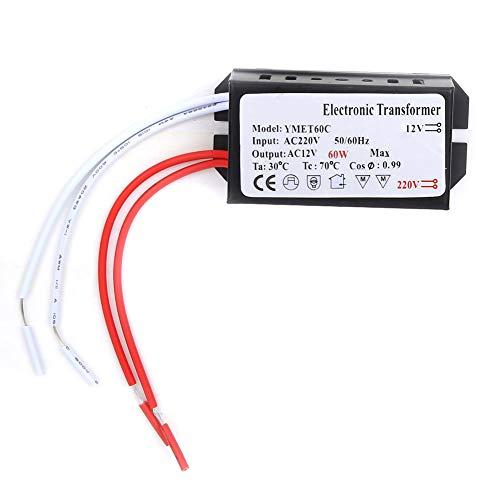Iluminación HC - Transformador electrónico - Entrada de 220 voltios/Salida de 12 voltios - Controlador inteligente de fuente de alimentación(60W)