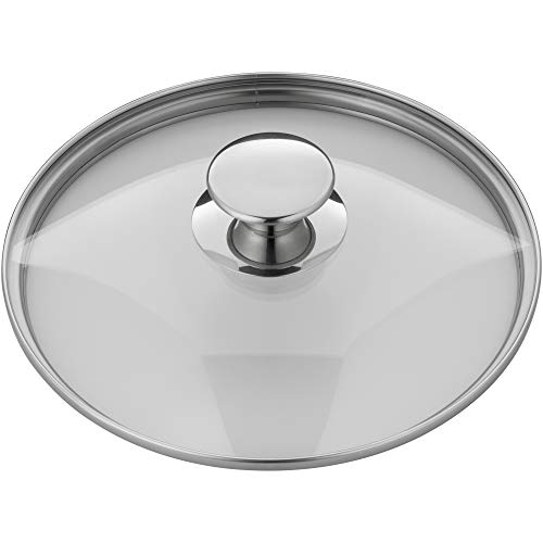 WMF Pfannen- Topfdeckel 24 cm, Glasdeckel mit Metallknauf, Deckel für Töpfe & Pfannen, hitzebeständiges Glas, spülmaschinengeeignet