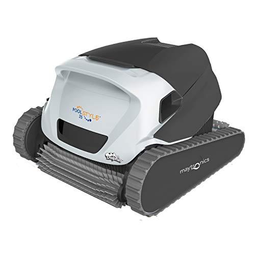 MAYTRONICS Dolphin Poolstyle 35 Digital - Robot Elettrico Pulitore per Piscina Fino a 12 Mt - Tecnologia Power Stream - Fondo + PARETI + Linea
