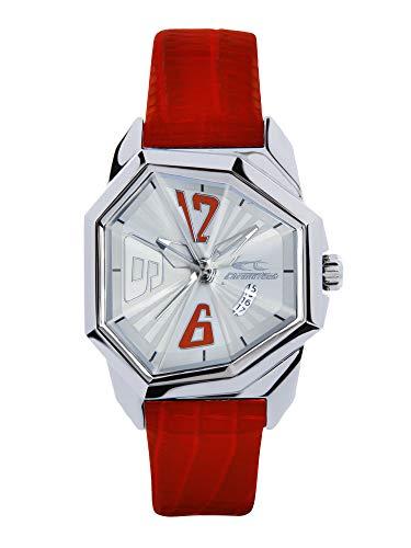 Orologio CHRONOTECH DONNA ALTEREGO quadrante MONO-COLORE ARGENTO movimento SOLO TEMPO - 3H QUARZO e CINTURINO PELLE DI VITELLO ROSSO RW0073