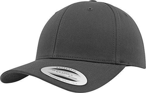 Flexfit Damen und Herren Baseball Caps Curved Classic Snapback Cap, Farbe Charcoal Grau