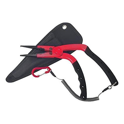 HSYSA Alicates de Pesca Split Ring Braid Line Leure Cutter Tijeras Removedor de Gancho Alicates de Pesca multifuncionales Aleación de Aluminio (Color : Red)