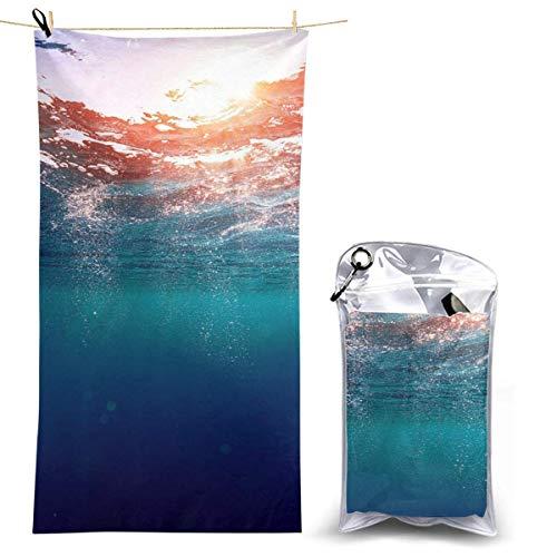 XCNGG Toalla de Playa de Microfibra, Manta de Toalla de Secado rápido Ocean Quick Toallas de baño...