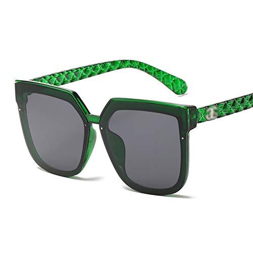 Classic Vintage Square Gafas de Sol Mujer de Gran tamaño Retro Mujeres Gafas de Sol UV400 Gafas de Sol Gafas de Ojos Moda Gafas de Sol para Mujeres (Lenses Color : C4 Green)