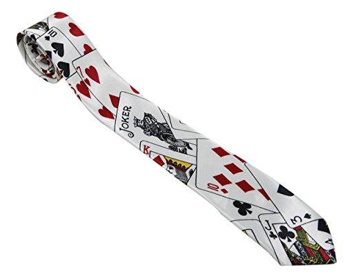 Komonee Herren Neck Tie Poker Spielkarten (Ti43)