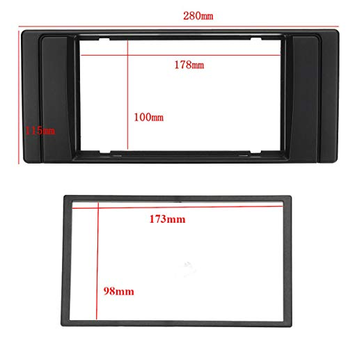IUEFINUEN 2 Lärm-Auto-Stereoradio Multimedia Player Armaturenbretts for BMW X5 E53 E39 (Color : A)