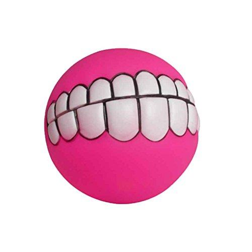 Jinzuke 8cm Grinsend Zähne Ton-Ball Hund Welpen Squeaky Kauspielzeugen beißfest Hund Quietsche-Ball