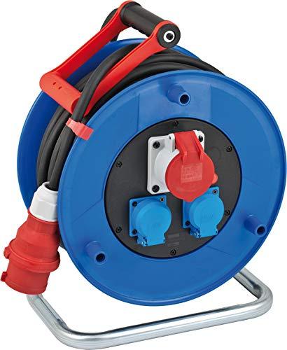 Brennenstuhl Garant CEE 1 IP44 Industrie-/Baustellen-Kabeltrommel, (30m Kabel in schwarz, Spezialkunststoff, Baustelleneinsatz und ständiger Einsatz im Außenbereich, BGI 608, Made in Germany)