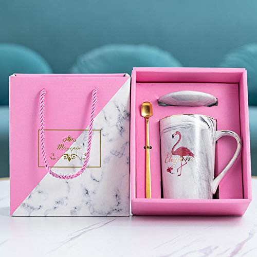 FGHJKOO Regalo del día de la madre, taza de café de cerámica con personalidad, taza clásica negra de tendencia, banda creativa para taza de café, caja de regalo, taza de capuchino-V