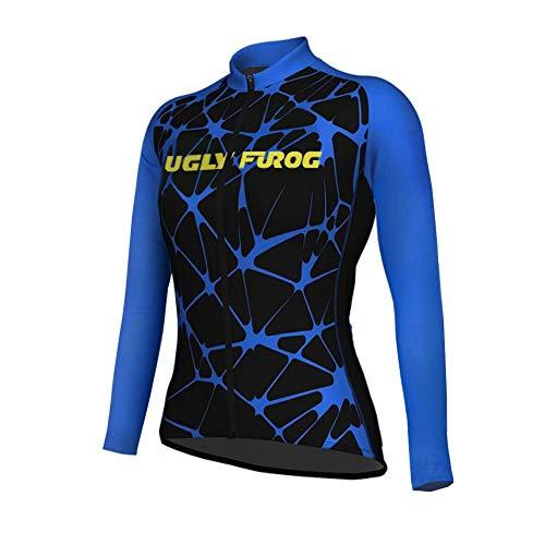 Uglyfrog Radtrikot 2019 Neu Frühling Damen Mode Fahrradbekleidung Langarm Gemütlich Atmungsaktiv Anzug Radfahren Frauen Trikot Set