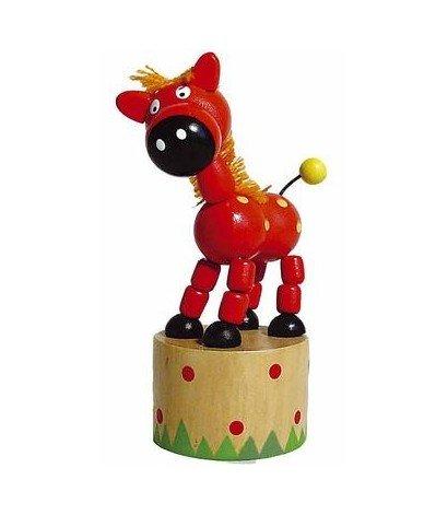 Ulysse - Jouet en Bois Wakouwa Marionnette Animal articulé Enfant 3 Ans + - Cheval