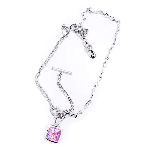 Guess Collection GC J22500N4 - Girocollo in Argento Sterling, Colore: Argento, Rosa, Dimensioni 45 cm