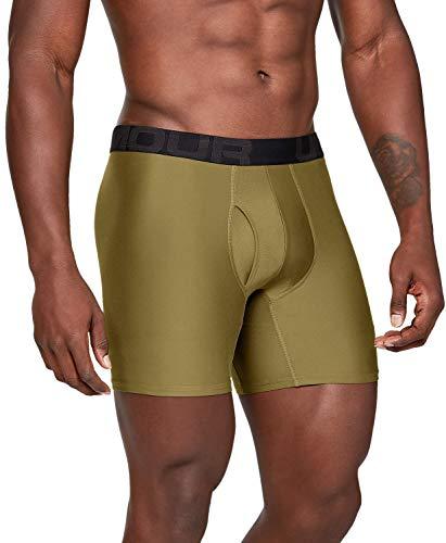 Under Armour - Boxerjock para hombre, 6 pulgadas, paquete de 2 - UA-1327415, XS, Canyon Verde (309)/Negro