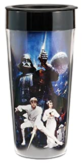 Vandor 99051 Star Wars 16 oz Plastic Travel Mug, Multicolor by Accessory (B0034IYV4Q) | Amazon price tracker / tracking, Amazon price history charts, Amazon price watches, Amazon price drop alerts