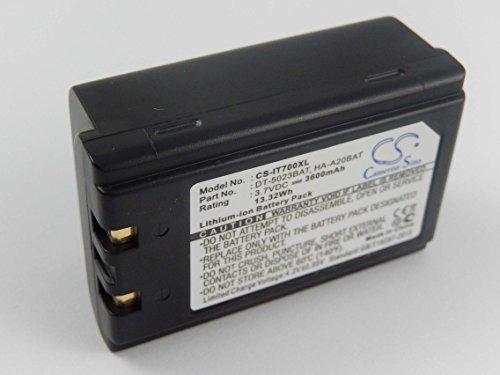 vhbw Li-Ion Akku 3600mAh (3.7V) für Barcode Scanner, Terminal, Handheld, PDA, POS Chameleon RF FL3500, RF PB1900, RF PB2100 wie 20-36098-01.