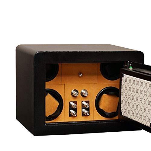 4 + 0 Enrollador automático de Reloj de Huellas Dactilares Enrolladores de Doble rotación Motor silencioso Premium con cajón Caja Fuerte de Metal 4 Modos Luz LED-35 y Tiempos; 25 y Tiempos; 25 CM