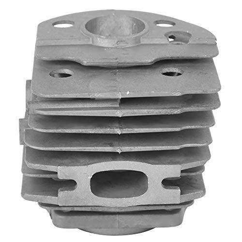 Kits de Pistón de Cilindro de Aluminio Herramienta de Hardware de Repuesto para Motosierra Accesorios para Husqvarna 55 Diámetro del Pistón de 46 mm con dos Aletas de Refrigeración