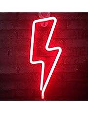 QiaoFei Neon Lightning Borden, LED Lightning Light - Muur Decor voor Bruiloft Party Kids Kamer Woonkamer Huis Bar Pub Hotel