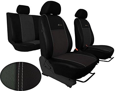 POKTER-ALC Auto Sitzbezüge Passend für Golf IV,V Designe ALKANTRA Exclusive mit Kunstleder Super Qualität. in Diesem Angebot Dunkelgrau.