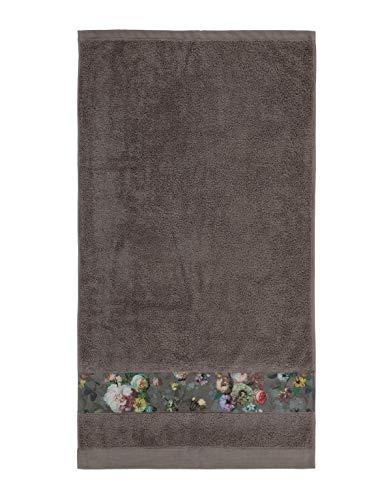 ESSENZA Handtuch Fleur Blumen Pfingstrosen Tulpen Baumwolle Taupe, 70x140