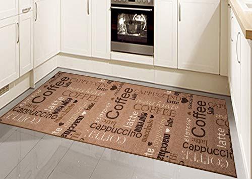 CARPETIA Küchenteppich Küchenläufer Coffee waschbar braun Größe 67x180 cm
