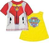 Nickelodeon Paw Patrol Marshall Little Boys Rash Guard Swim Shirt & Caped Towel Set 6