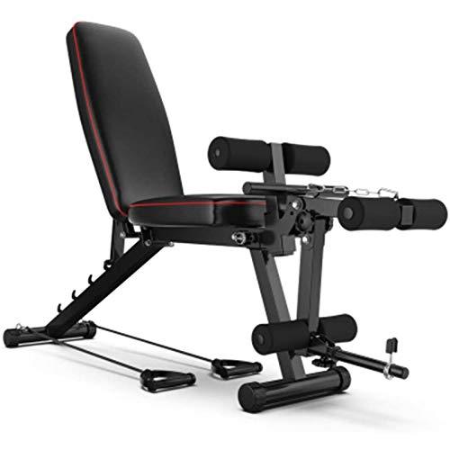 Banco de ejercicios plegable, banco de peso inclinado, ejercicio de presión, estiramiento/elevación de pierna/inclinado hacia adelante, banco de fitness plegable ajustable, carga máxima de 200 kg