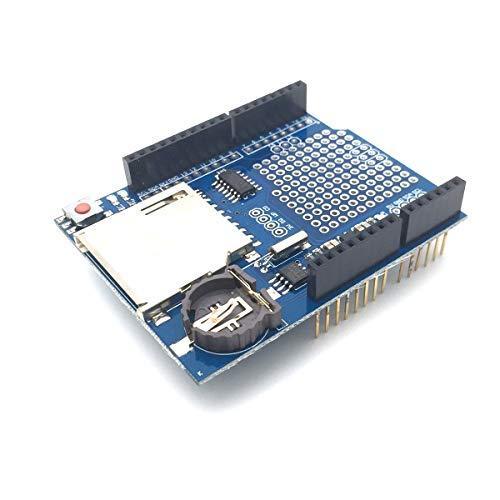 AptoFun Daten Logger Modul Logging Schild/Data Recorder Schild/Data Logger Shield für Arduino Uno SD MN OVP