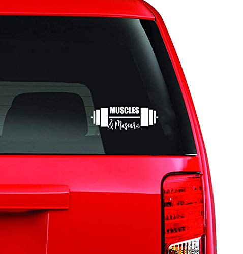 Tattoo Auto Aufkleber 18X30Cm Muskeln & Mascara Auto Aufkleber Rückspiegel Aufkleber Für Auto Stoßstange Aufkleber Für Auto Laptop Fenster Aufkleber