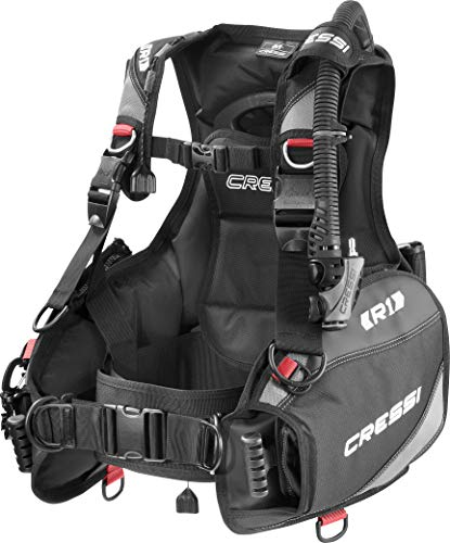 Cressi R1 Weight with Integrated BCD, Black/Grey/Red, X-Large