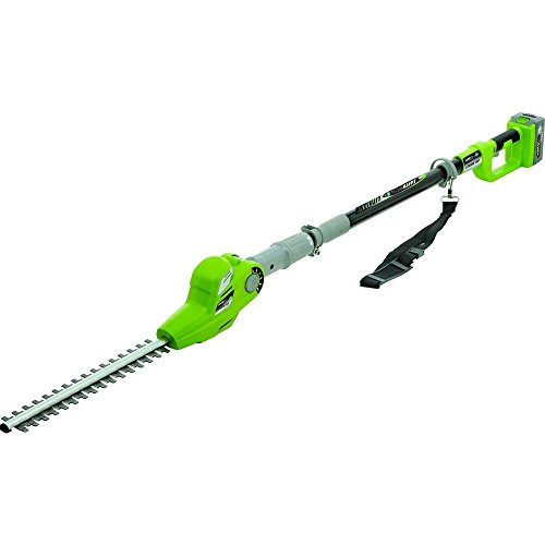 Earthwise LPHT12417 17-Inch 24-Volt Lithium Ion Cordless Electric Pole Hedge...