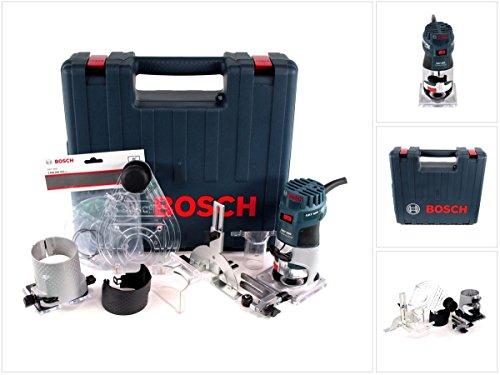 Bosch Professional GKF 600 Fresatrice, 600 W, 33000 RPM, con Valigetta e Set di Accessori