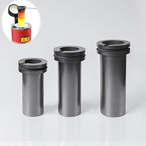 Graphite Crucible, 1kg/2kg/3kg High Purity Graphite Crucible, Melting Gold, Silver, Copper, Furnace Casting Mould Melt Jewelry Tools (2 KG)