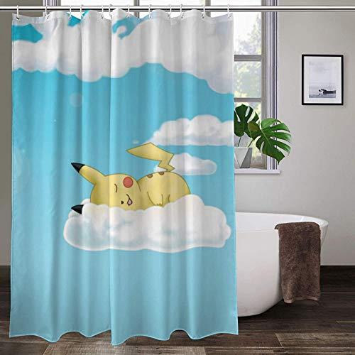 Pokemon Duschvorhang Badvorhang mit 12 Haken für Jungen Badezimmer Dekor
