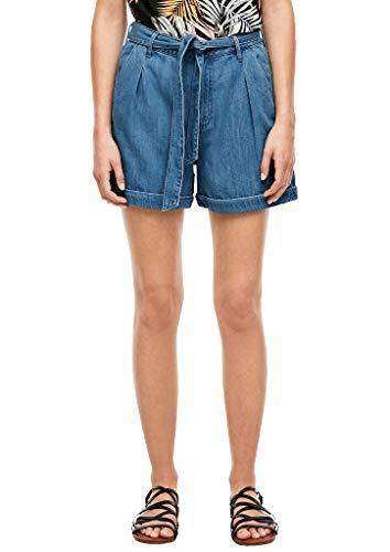 s.Oliver Jeans Kurz Pantalocini, 53z4 Blue Denim Stretch, 38 Donna
