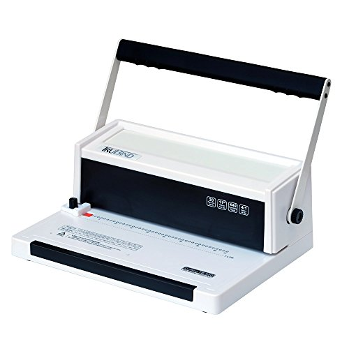 TruBind Coil Binding Machine - Manual Round Hole Punch - Adjustable Side Margin - 4 to 1 Pitch - 20 Sheet Punch Capacity