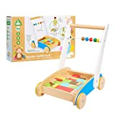 Early Learning Centre Wooden Toddle Truck, Hand Eye Coordination, Physical Development, Instills Confidence, Toys for Ages 18-36 Months, Amazon Exclusive