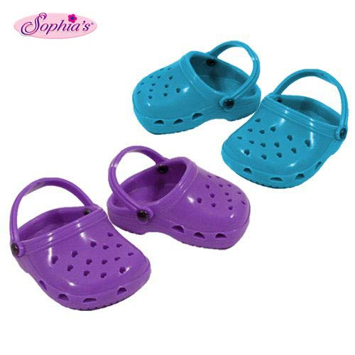 Purple & Teal Polliwog Doll Shoes Set, Fits 18 Inch American Girl Dolls