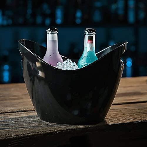 AQAQ Cubitera para Cervezas de Gran Capacidad de 5L para Fiestas, Cubo de Champán de Plástico Transparente Comercial, Cubo de Cerveza para Bebidas y Fiestas
