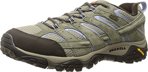 Merrell Women's Moab 2 Waterproof Hiking Shoe, Dusty Olive, 9.5 W US