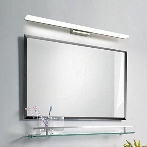 Lozse 16W LED Luminaire Salle de Bain Eclairage Salle de Bain Lumière Blanc Froid AC90-240V Applique Murale Acier Inoxydable 120cm