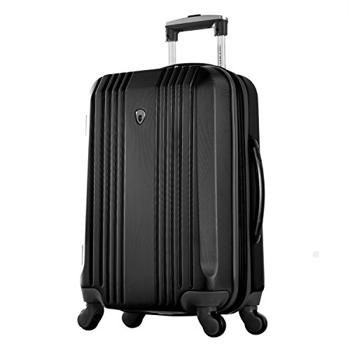 """Olympia Apache Ii 21"""" Carry-on Spinner, BLACK+BLACK, One Size"""