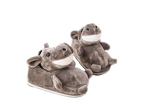 LANFIRE LANFRE Ciabatte in Cotone Antisdrucciolo Domestico Invernale Pantofole Anatre Animali (Asino)