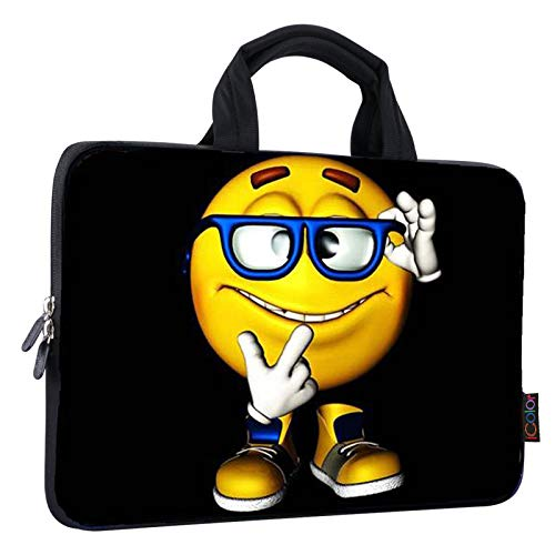 iColor 11 11.6 12 12.1 12.5 inch Laptop Carrying Bag Chromebook Case Notebook Ultrabook Bag Tablet Cover Neoprene Sleeve for Apple MacBook Air Samsung Google Acer HP DELL Lenovo Asus Yellow Boy