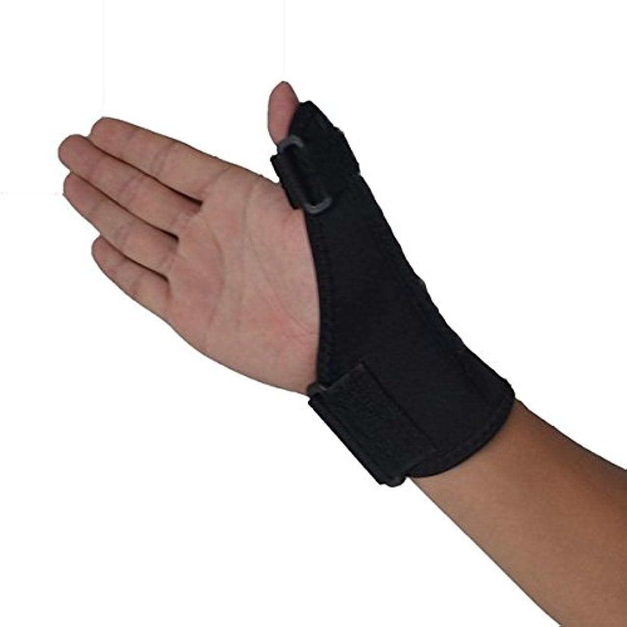 Forfar Thumb Protector Thumb Brace Hand Wrist Brace Guard Wrap Glove Support Gym Adjustable Equipment Black