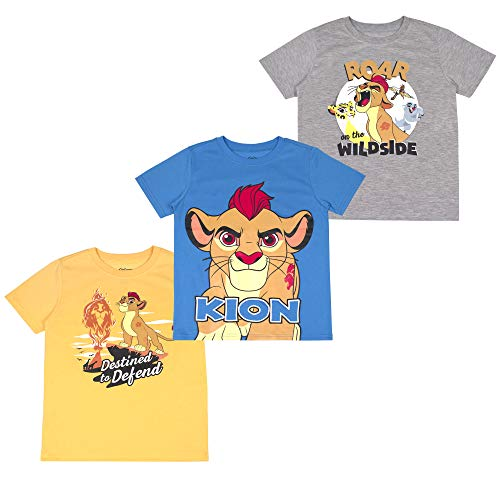 Disney Boys 3-Pack T-Shirts: Wide Variety Includes Lion King, Cars, Incredibles