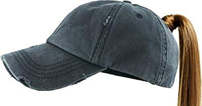 All Hat Ponytail Vintage Sports Glitter Messy High Bun Hat Ponycaps Adjustable Cotton and Mesh Trucker Baseball Cap