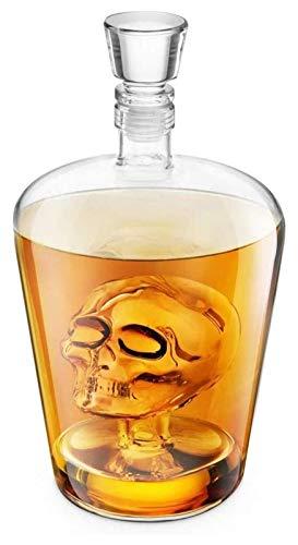 AMDHZ Decantador de Whisky, Cráneo Cráneo Cráneo Ideal para Whisky Vodka, Scotch, Rum Tequila & More - Sostiene hasta 1 litro (33.8oz) Decantador de Whisky
