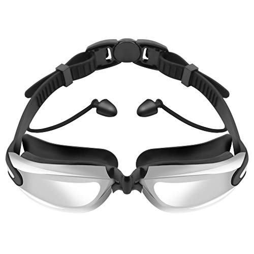 Buy Discount Ikevan_ Silicone Swimming Goggles Glasses Waterproof Anti-fog with Earplugs for Men Wom...